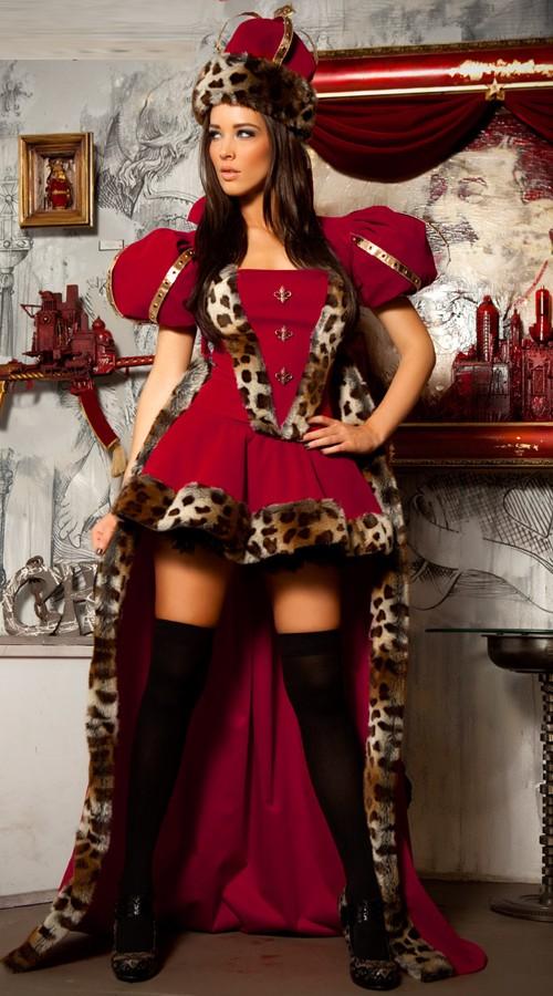 Deluxe Punainen Kuningatar Asu