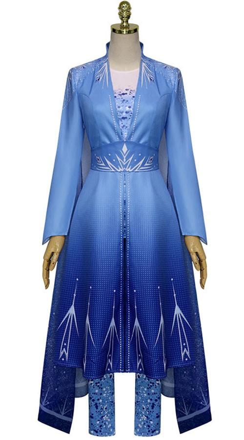 Deluxe Frozen 2 Prinsessamekko Elsa Mekko Aikuisille