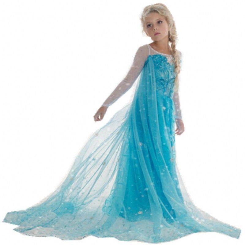 Lapsille Elsa Frozen Mekko Frozen Prinsessamekko