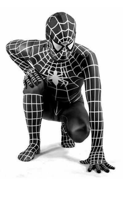 Klassinen Supersankari Spiderman Asu Aikuisille Musta