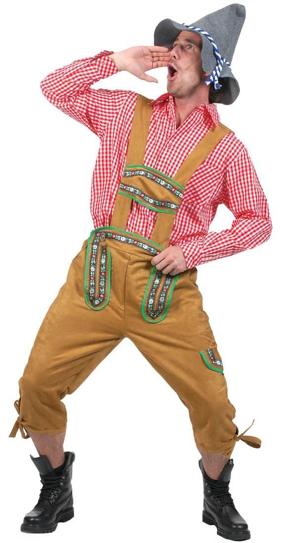 Alppien Yodeler Oktoberfest Lederhosen Miehille Housut