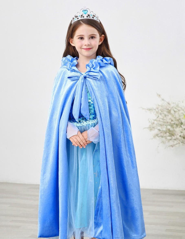 Lapsille Frozen Prinsessa Elsa Hupullinen Viitta Sininen