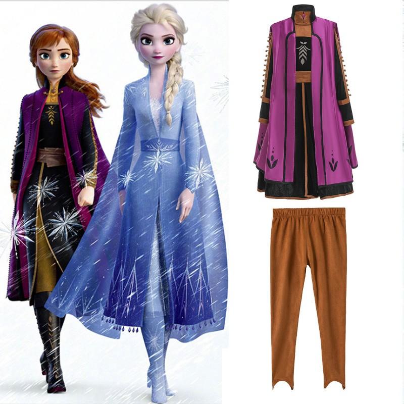Deluxe Frozen 2 Prinsessa Anna Mekko Lapsille
