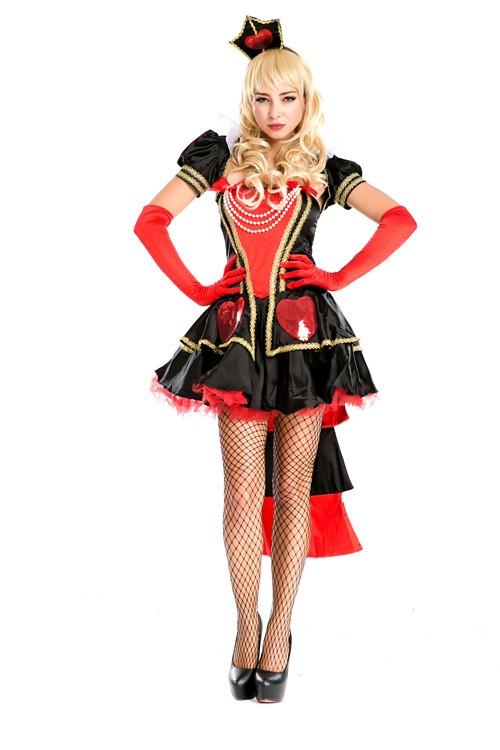 Alice In Wonderland Seksikäs Herttakuningatar Asu