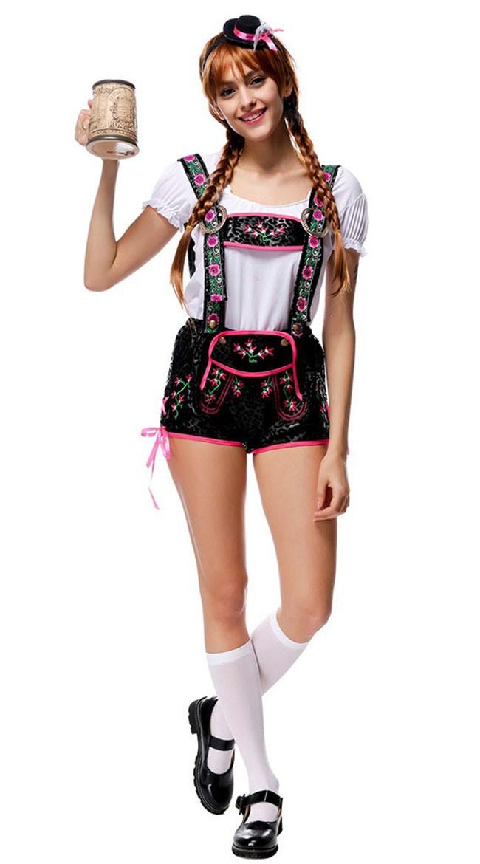 Flirty Tirolilaisasu Oktoberfest Lederhosen Asut