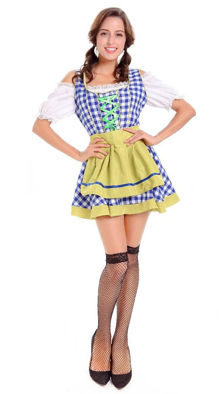 Bavarian Naiselle Vauva Oktoberfest Asu Sininen