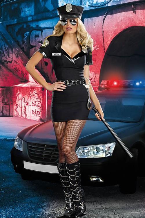 Seksikäs likainen poliisin vaatteet