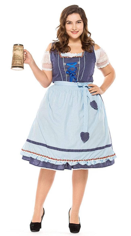 Vintage Oktoberfest Asu Isot Koot Saksalainen Dirndl Heidi Mekko