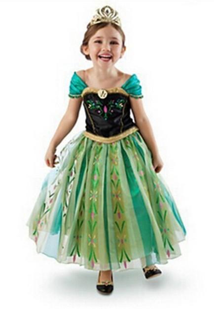 Frozen Prinsessa Anna Kruunajaiset Mekko Lapsille