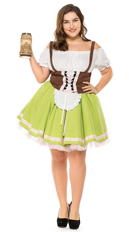 Saksalainen Gretchen Oktoberfest Asu Isot Koot