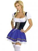Sininen Seksikäs Tirolilainen Asu Oktoberfest Asu Naiselle