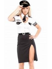 Pilotti Puku Lentoemäntä Asu