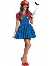 Aikuisten Super Mario Puku Putkimies Puku Naisten