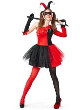 Naisten Harley Quinn Asu Halloween Pelle Puku Aikuisille