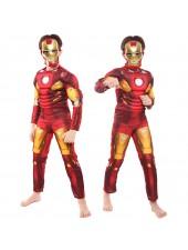 Avengers Iron Man Asu Klassinen Lihasasu Lapsille Naamiaisasu