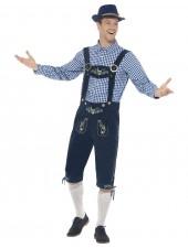 Perinteinen Oktoberfest Lederhosen Puku Miehille