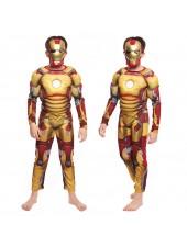 Avengers Iron Man Asu Klassinen Lihasasu Lapsille Keltainen