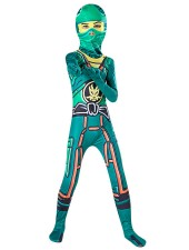 Vihreät Pojat Ninjago Puku Lapsille Halloween Ninja Asu