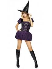 Halloween Asut Seksikäs Violetti Noita Asu