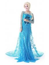 Frozen Asut Jään Sininen Elsa Mekko Aikuisille