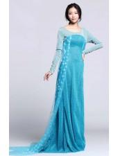Halpa Sininen Frozen Elsa Mekko Aikuisille