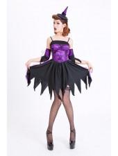 Halloween Asut Violetti Seksikäs Noita Asu