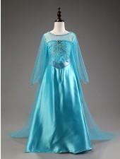 Lapsille Deluxe Frozen Puku Prinsessa Elsa Mekko