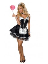 Seksikäs backless french maid asu