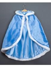 Lapsille Frozen Prinsessa Elsa Hupullinen Viitta Pitkä Sininen
