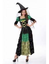 Tylli Vihreä Halloween Noita Asu