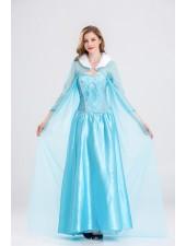 Mesh Sininen Frozen Prinsessa Elsa Mekko