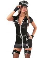 Kuuma seksikäs musta vaaralliset poliisiasu