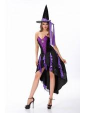 Seksikäs Lumoavat Halloween Noita Asu Violetti