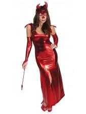 Punainen Pitkä Halloween Piru Asu