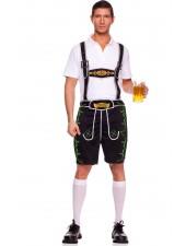 Baijerin Oktoberfest Lederhosen Miehille Housut Musta