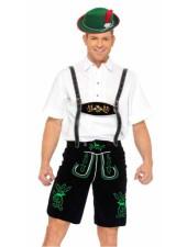 Saksan Oktoberfest Lederhosen Miehille Housut