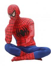 Klassinen Supersankari Spiderman Asu Aikuisille Punainen