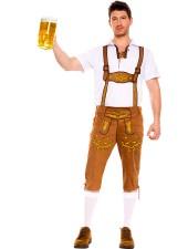 Baijerin Oktoberfest Lederhosen Miehille Housut Keltainen