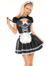 Musta vallaton french maid asu