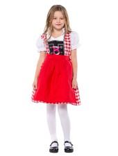 Punainen Bavarian Oktoberfest Asu Lapsille Vaatteet
