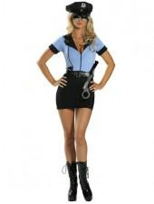 Sininen seksikäs aikuinen poliisiasu
