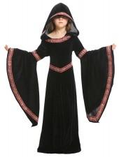 Keskiaikaisen Vampyyri Asu Lapsille Gothic Kaapu Hupullinen Musta